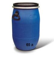 продам оптом бочки пластиковые б/у на 65 литров с крышкой