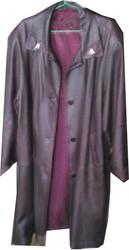 Сюртук женский кожаный большого размера