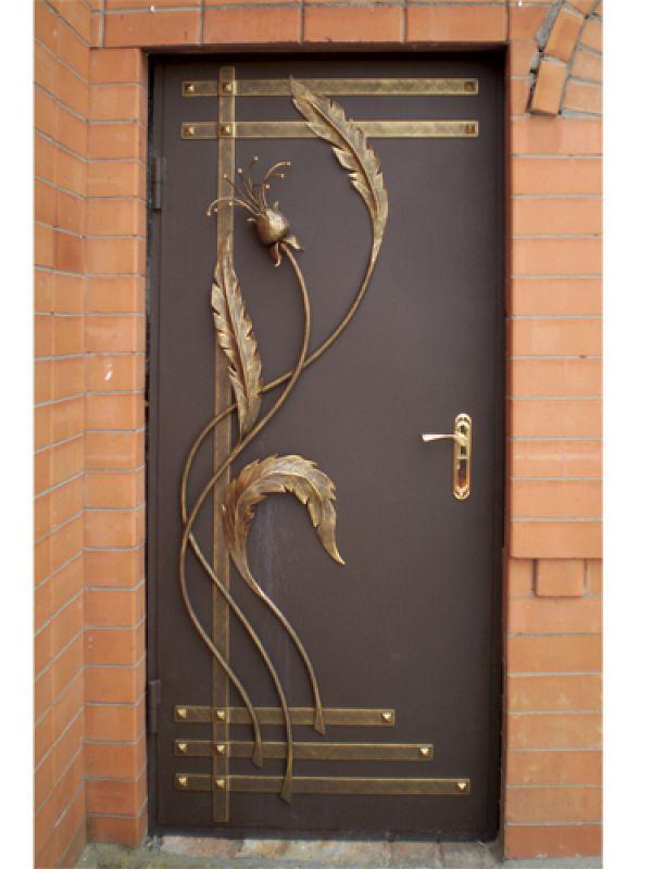 варианты кованных накладок на металлич входные двери